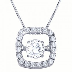 Dazzling Diamonds Square Pendant