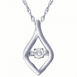 Dazzling Diamonds Free Form Pendant