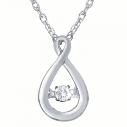 Dazzling Diamonds Teardrop Pendant