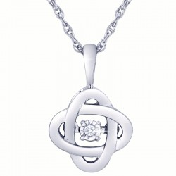 Dazzling Diamonds Love Knot Pendant