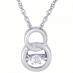 Dazzling Diamonds Interlocking Rings Pendant