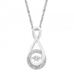 Dazzling Diamonds Swirl Pendant