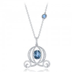 Cinderella Carriage London Blue Topaz Diamond Pendant