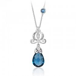Cinderella Carriage London Blue Topaz Briolette Pendant