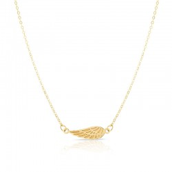 14K Yellow Angel Wing Necklace