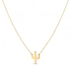 14K Yellow Mini Cactus Necklace