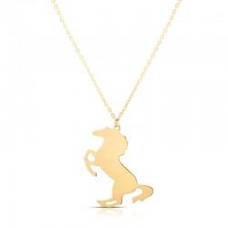 14K Horse Necklace
