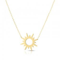 14K Starburst Necklace