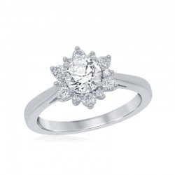 Elsa Snowflake Bridal Ring