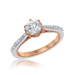 Belle Long Stem Rose Bridal Ring