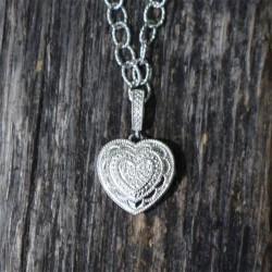 Rose Locket Necklace (Silver)