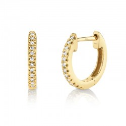 0.07ct 14k Yellow Gold Diamond Huggie Earring