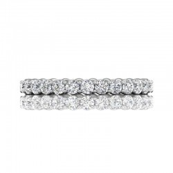 FlyerFit® 14K White Gold Eternity Wedding Band