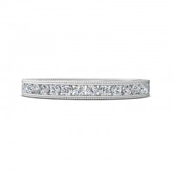 FlyerFit® 14K White Gold Vintage Wedding Band