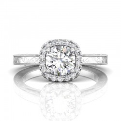 FlyerFit® 14K White Gold Vintage Engagement Ring