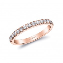 14K Rose Gold Diamond Wedding Band