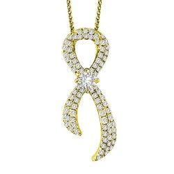 Forevermark Foreverhope Cancer Awareness Ribbon Pendant