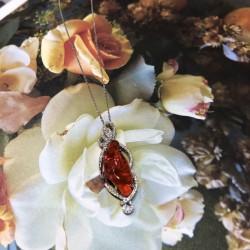 Birdie Levine Creations Fire Opal Pendant