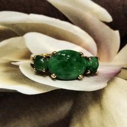 Past Present Future Jadeite Ring