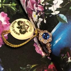 Birdie Levine Creations Ceylon Sapphire and Diamond Ring
