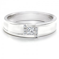 Black Label Square Diamond Gents Wedding Band