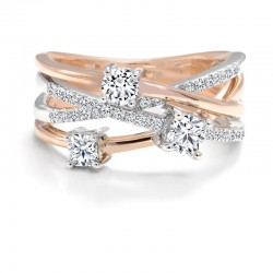 Black Label Round Diamond Anniversary Ring