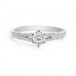 Black Label Oval Diamond Split Engagment Ring