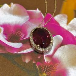 Pinkish Red Tourmaline Pendant