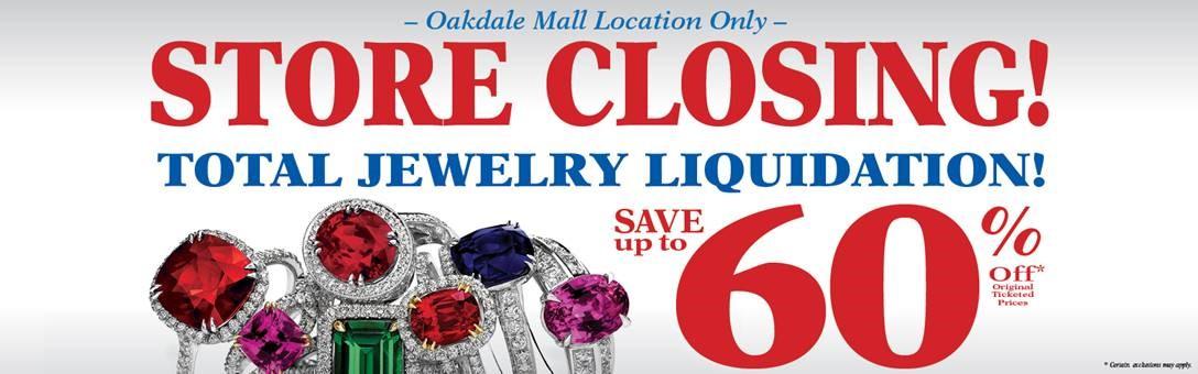 Oakdale Mall Closing Sale
