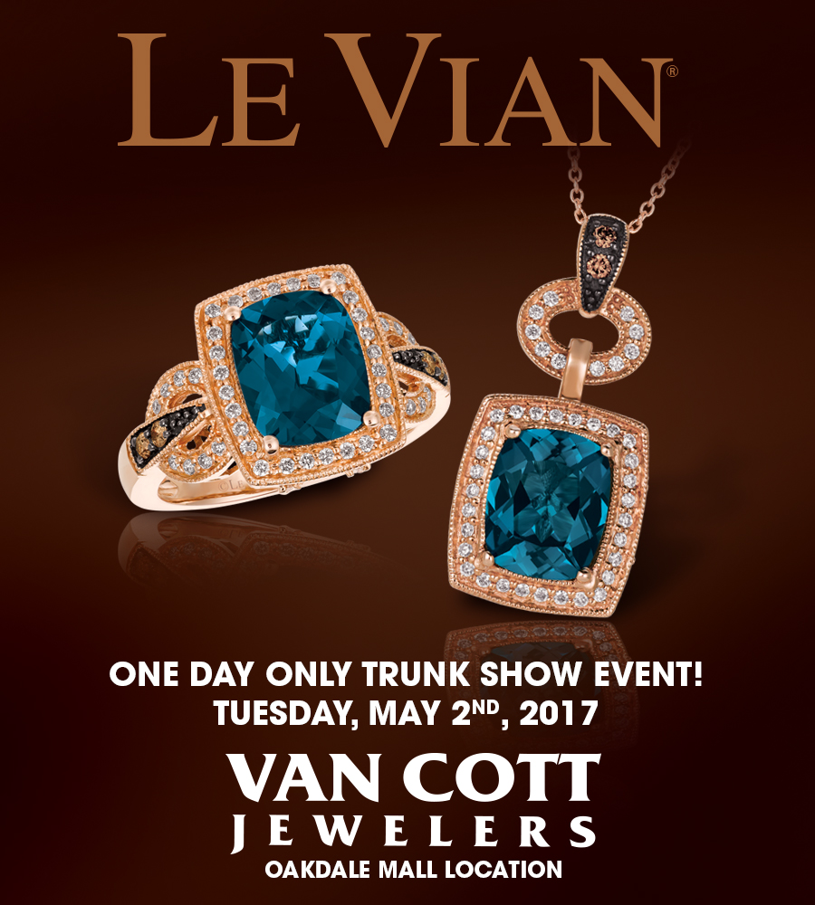 Le Vian Trunk show May 2nd!