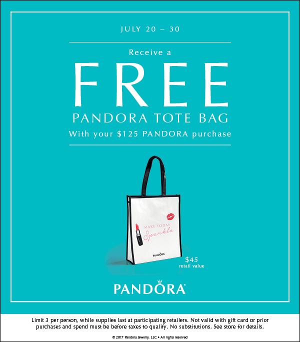 Pandora Free Tote Bag GWP Event!