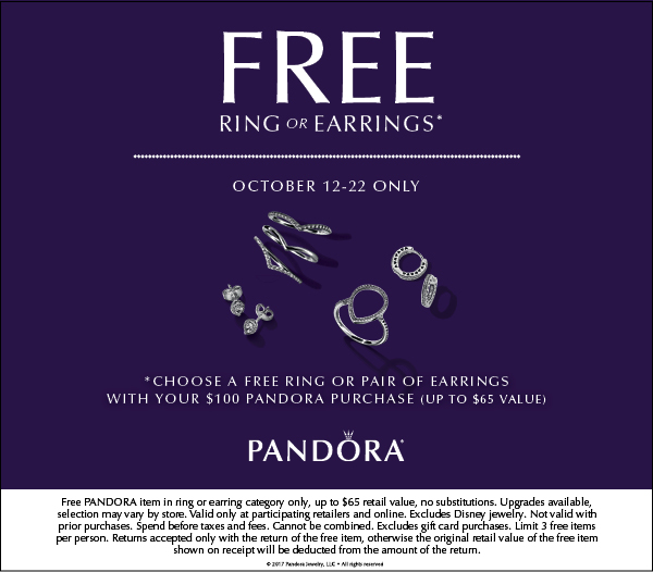 Free Ring or Earrings with Purchase!