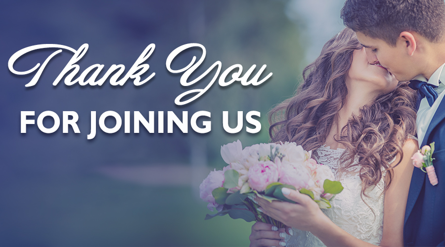 Thank You For Making Our Wedding Band Show Amazing!