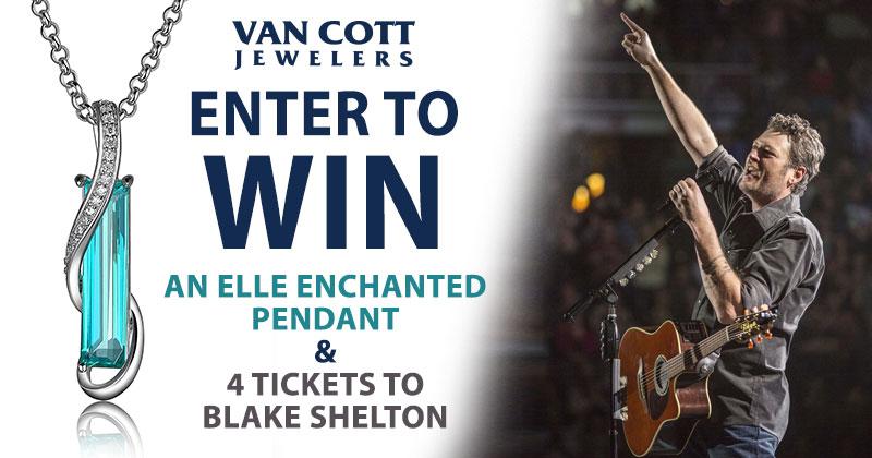 Blake Shelton - Elle Enchanted Pendant Giveaway