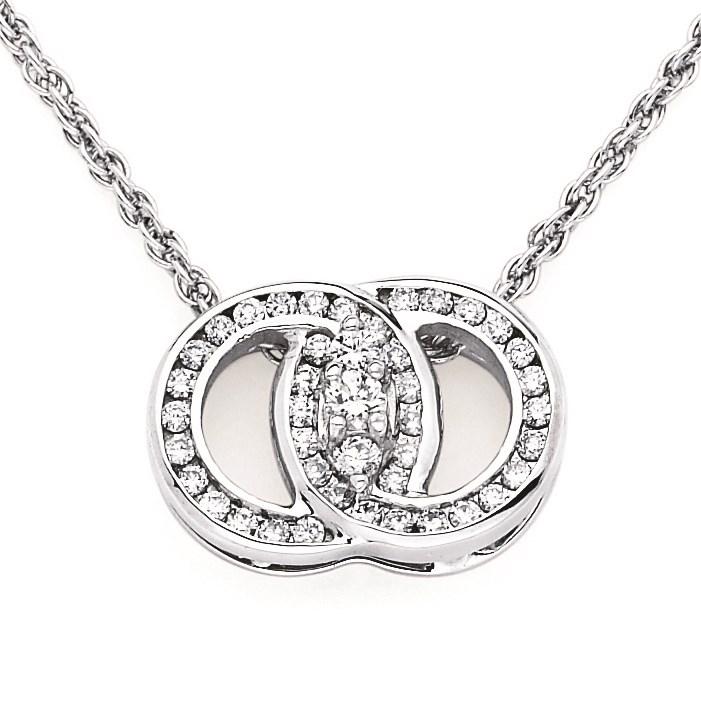 Diamond Marriage Symbol Wg Pendant 256 Dmspch25w