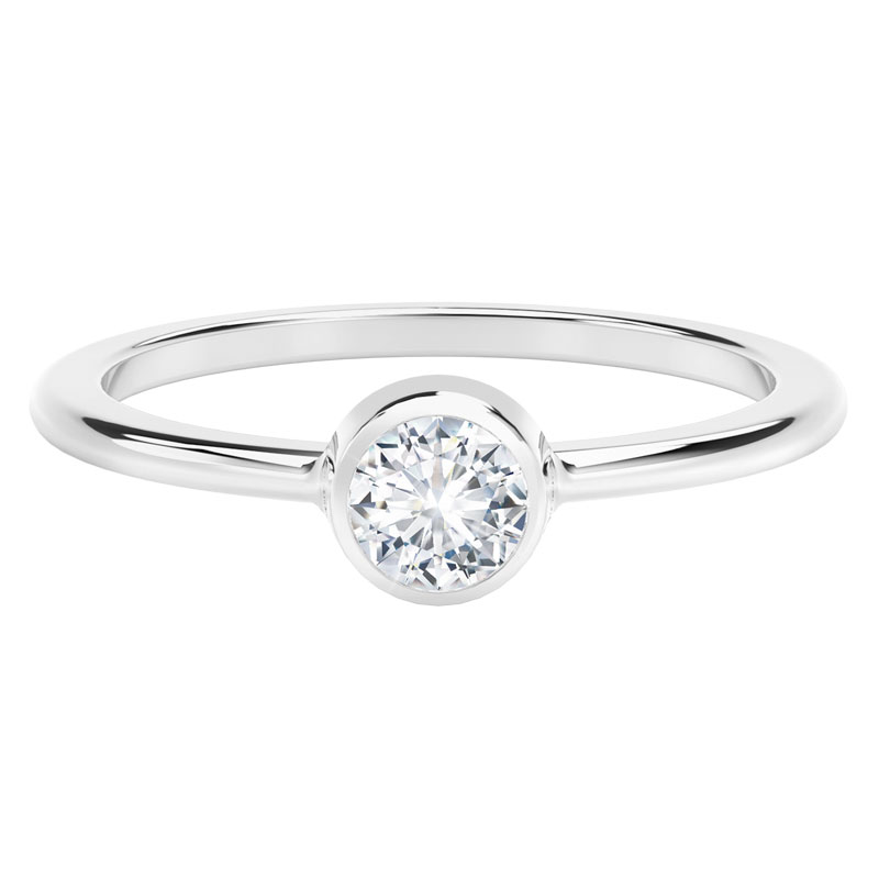 fa31e3bc758e6 The Forevermark Tribute™ Collection Classic Bezel Stackable Ring ...