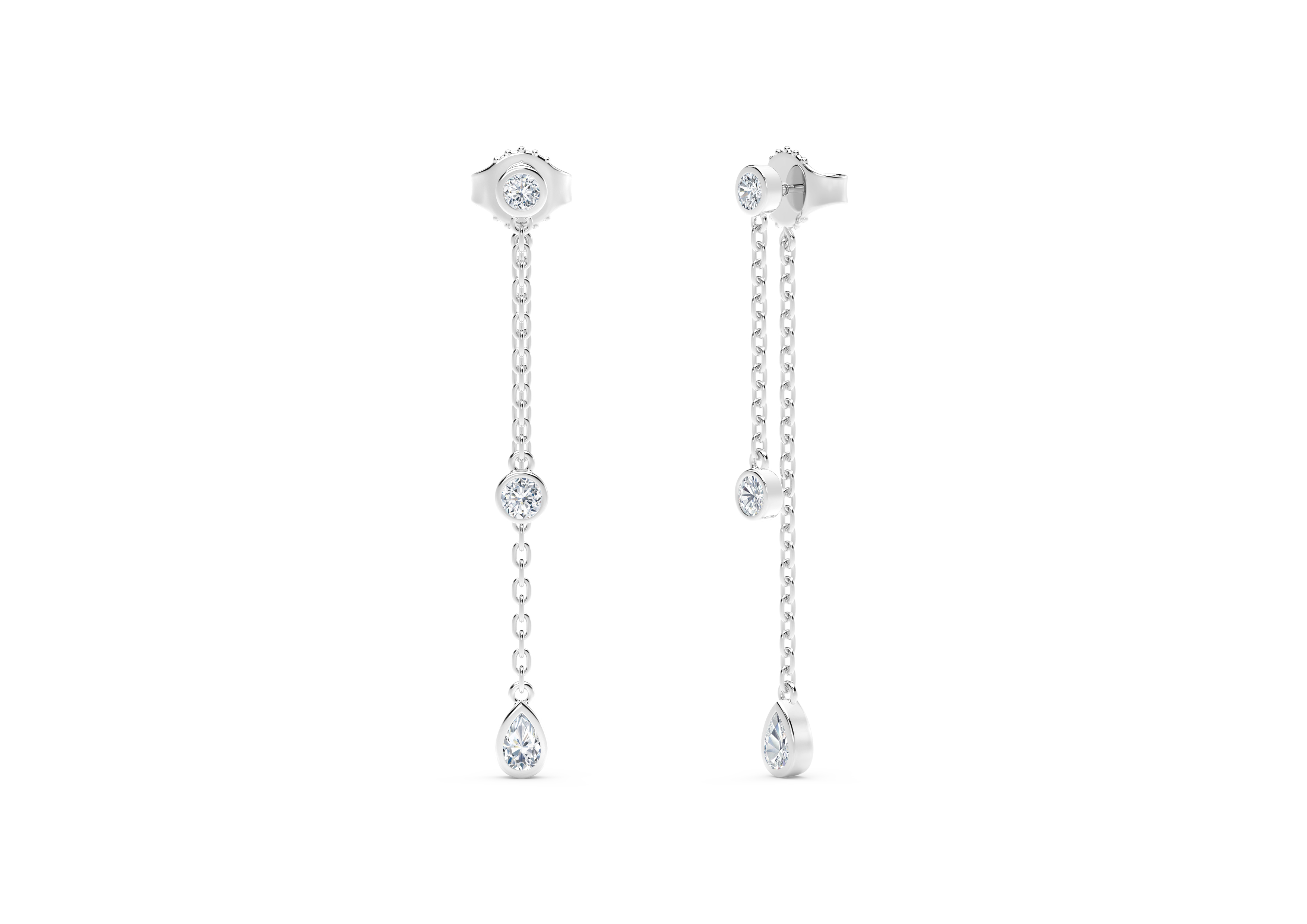 c60637906 The Forevermark Tribute™ Collection Round and Pear Diamond Drop Earrings