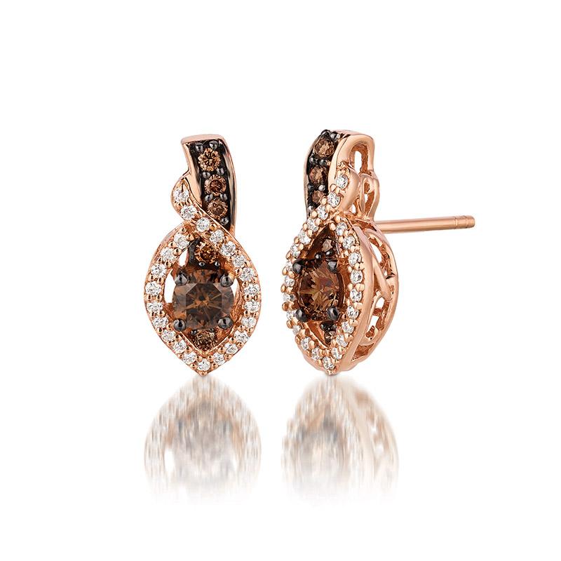 Levian Chocolate And Vanilla Diamond Earrings